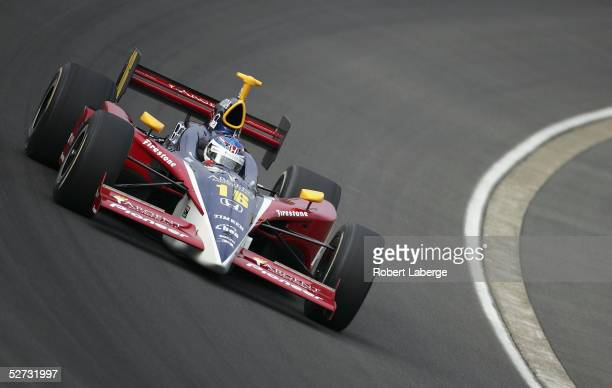 Danica Patrick driver of the Rahal Letterman Racing Pioneer Argent Honda Panoz during final practice for the Indy Racing League IndyCar Series...