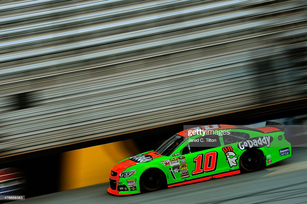 Danica Patrick drives the #10 GoDaddy.com - Get Found Chevrolet during practice for the NASCAR Sprint Cup Series Food City 500 at Bristol Motor Speedway on March 15, 2014 in Bristol, Tennessee.