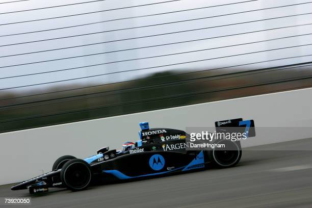 Danica Patrick drives the Motorola Andretti Green Racing Dallara Honda during practice for the IRL Indycar Series Bridgestone Indy Japan 300 on April...