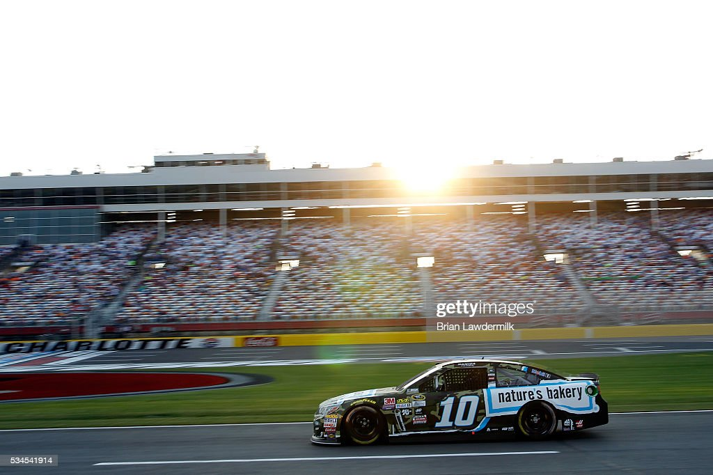 <a gi-track='captionPersonalityLinkClicked' href=/galleries/search?phrase=Danica+Patrick&family=editorial&specificpeople=183352 ng-click='$event.stopPropagation()'>Danica Patrick</a> drives the #10 Nature's Bakery Chevrolet during qualifying for the NASCAR Sprint Cup Series Coca-Cola 600 at Charlotte Motor Speedway on May 27, 2016 in Charlotte, North Carolina.