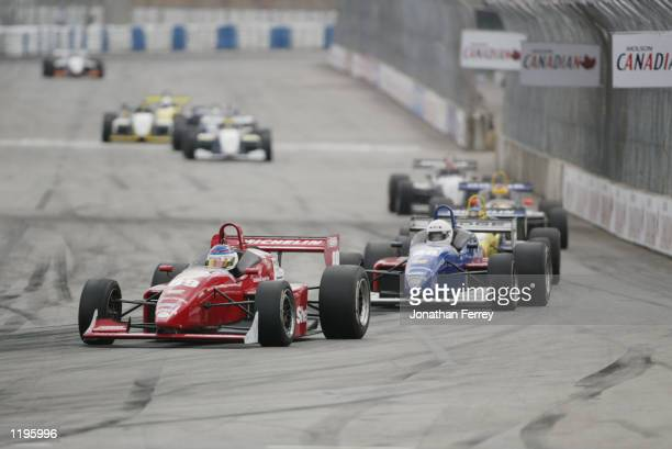 Danica Patrick driving the Team Rahal Dodge Reynard during the Barber Dodge Pro Series race at the Molson Indy Vancouver round 10 of the CART FedEx...