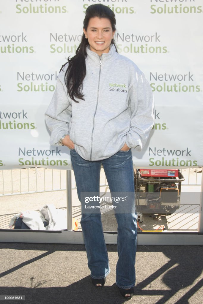 Danica Patrick during Danica Patrick and Tony Danza Promote Race to Network Solutions Sweepstakes with Go-Kart Race at Union Square in New York City, New York, United States.