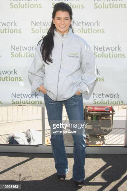Danica Patrick during Danica Patrick and Tony Danza Promote Race to Network Solutions Sweepstakes with GoKart Race at Union Square in New York City...
