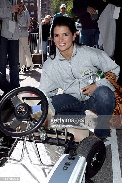 Danica Patrick during Danica Patrick and Tony Danza 'Race to Network Solutions' in a GoKart Challenge October 20 2005 at Union Square in New York...