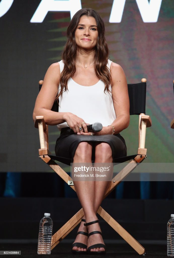 Danica Patrick of the documentary 'Danica' speaks onstage during the EPIX portion of the 2017 Summer Television Critics Association Press Tour at The Beverly Hilton Hotel on July 25, 2017 in Beverly Hills, California.
