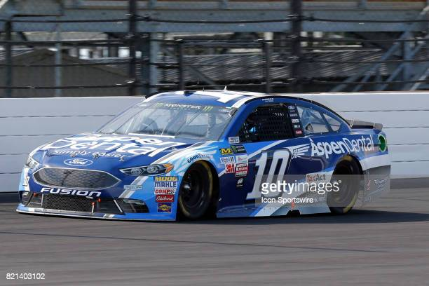 Danica Patrick StewartHaas Racing Ford Fusion during the NASCAR Monster Energy Cup Series Brantley Gilbert Big Machine Brickyard 400 July 23 at the...