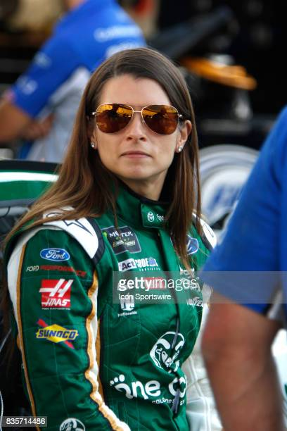 Danica Patrick StewartHaas Racing One Cure Ford Fusion practice for the Bass Pro Shop NRA 500 at Bristol Motor Speedway on August 18 2017 Photo by...
