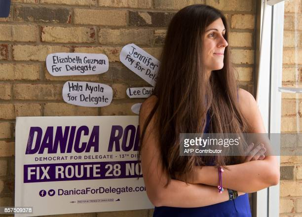 Danica Roem a Democrat for Delegate in Virginia's district 13 and who is transgender sits in her campaign office on September 22 in Manassas Virginia...