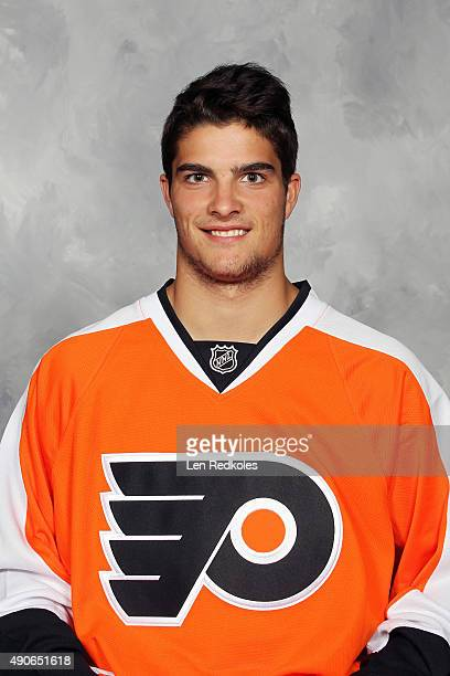 Danick Martel of the Philadelphia Flyers poses for his official headshot for the 20152016 season on July 6 2015 at the Virtua Flyers Skate Zone in...