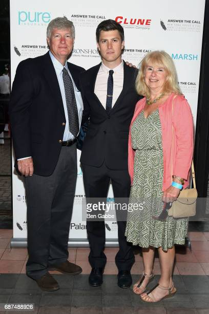Daniel A Jost Colin Jost and Kerry Kelly attend Answer the Call's 5th Annual Red Blue Soiree at The Bowery Hotel on May 23 2017 in New York City