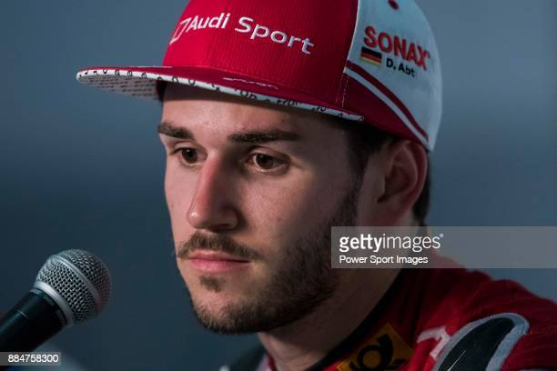 Daniel Abt of Germany from Audi Sport ABT Schaeffler attends at the press conference after FIA Formula E Hong Kong EPrix Round 2 at the Central...