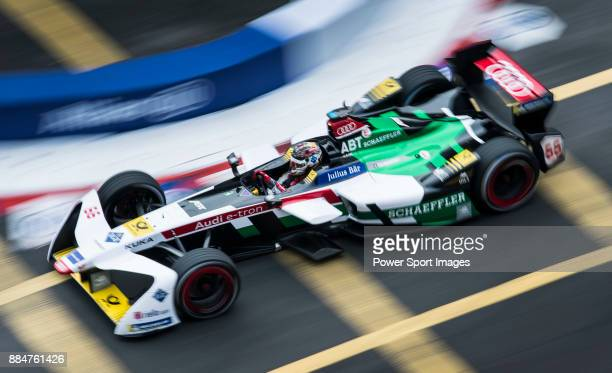 Daniel Abt of Germany from Audi Sport ABT Schaeffler on track at the Formula E NonQualifying Practice 3 during the FIA Formula E Hong Kong EPrix...