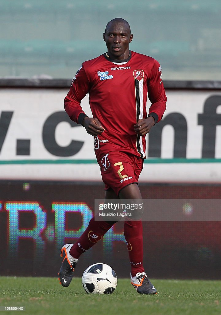 Daniel Adejo of Reggina during the Serie A match between Reggina Calcio and Empoli FC at Stadio Oreste Granillo on December 30, 2012 in Reggio Calabria, Italy.