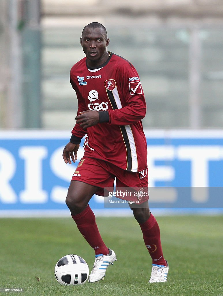Daniel Adejo of Reggina during the Serie B match between Reggina Calcio and Calcio Padova on February 16, 2013 in Reggio Calabria, Italy.