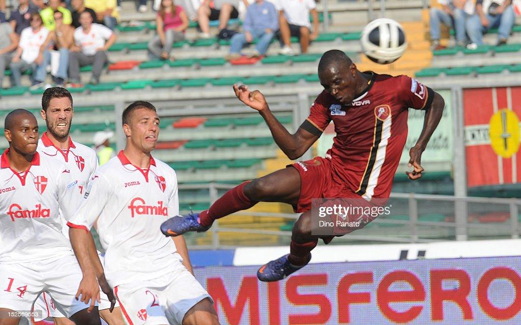 Daniel Adejo of Reggina scores his second teams goal during the Serie B match between Calcio Padova and Reggina Calcio at Stadio Euganeo on September 22, 2012 in Padova, Italy.