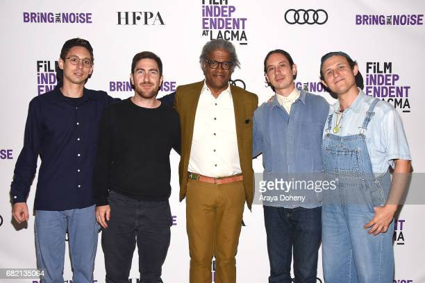 Daniel Aged Kenneth Gilmore Elvis Mitchell Andrew Aged and Gabriel Noel attend the Film Independent at LACMA screening of Bring The Noise Gulliver's...