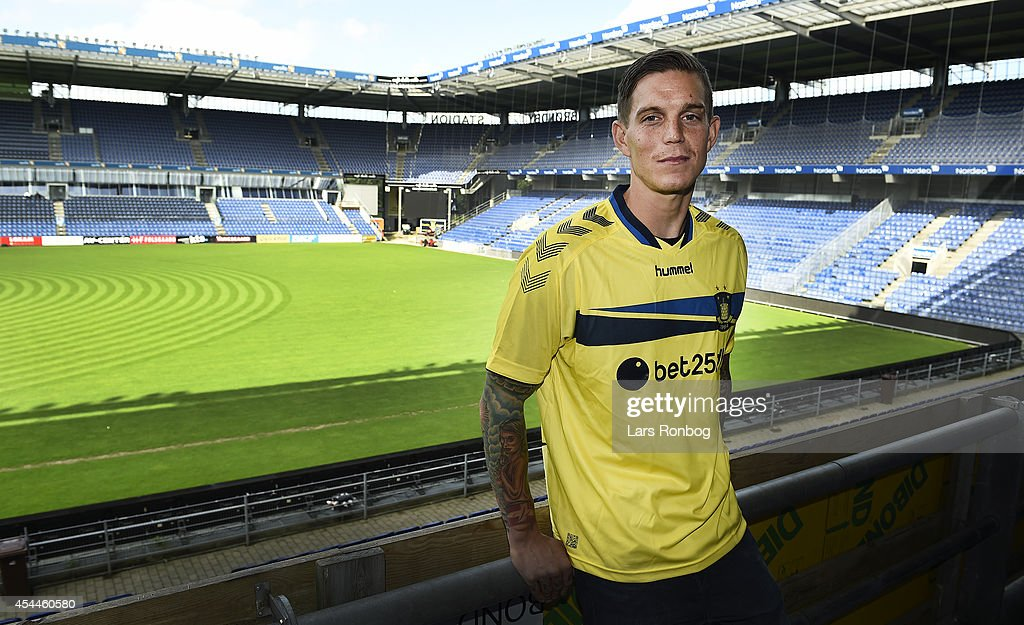 <a gi-track='captionPersonalityLinkClicked' href=/galleries/search?phrase=Daniel+Agger&family=editorial&specificpeople=605441 ng-click='$event.stopPropagation()'>Daniel Agger</a> of Brondby IF speaks to the media at the Brondby IF Press Conference at Brondby Stadion on September 1, 2014 in Brondby, Denmark.