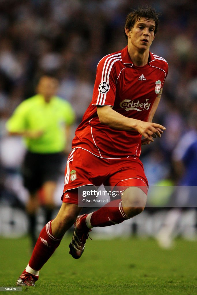 Daniel Agger of Liverpool in action during the UEFA Champions League semi final second leg match between Liverpool and Chelsea at Anfield on May 1, 2007 in Liverpool, England.