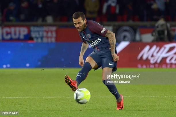Daniel Alves Da Silva defender of Paris SaintGermain team during the Ligue 1 match between Paris Saint Germain and Lille OSC at Parc des Princes on...
