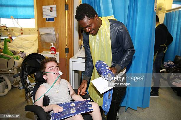 Daniel Amartey during the Leicester City Players Deliver Christmas Presents to Patients at Leicester Royal Infirmary on December 15 2016 in Leicester...