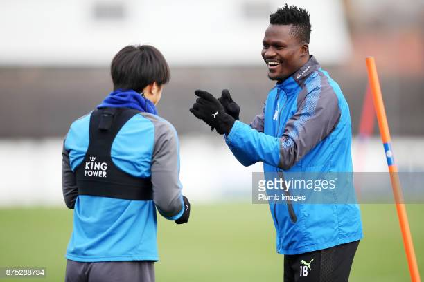 Daniel Amartey during the Leicester City training session at Belvoir Drive Training Complex on November 17 2017 in Leicester United Kingdom