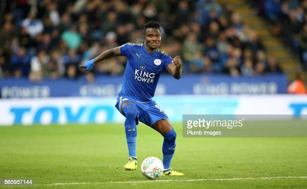 Daniel Amartey of Leicester City during the Carabao Cup fourth round match between Leicester City and Leeds United at The King Power Stadium on...