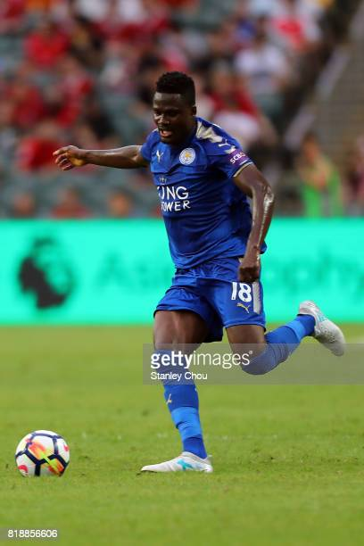 Daniel Amartey of Leicester City during the Premier League Asia Trophy match between Leicester City and West Bromwich Albion at Hong Kong Stadium on...