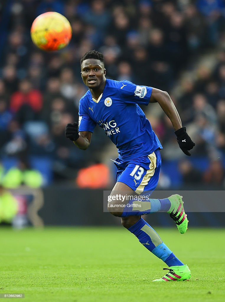 Daniel Amartey of Leicester City in action during the Barclays Premier League match between Leicester City and Norwich City at The King Power Stadium on February 27, 2016 in Leicester, England.