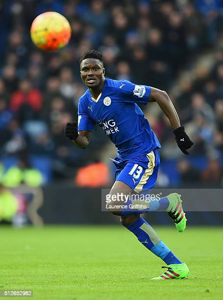 Daniel Amartey of Leicester City in action during the Barclays Premier League match between Leicester City and Norwich City at The King Power Stadium...