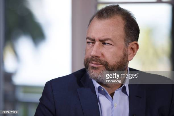 Daniel Ammann president of General Motors Co listenss during a Bloomberg Television interview on the sidelines of the Wall Street Journal DLive...