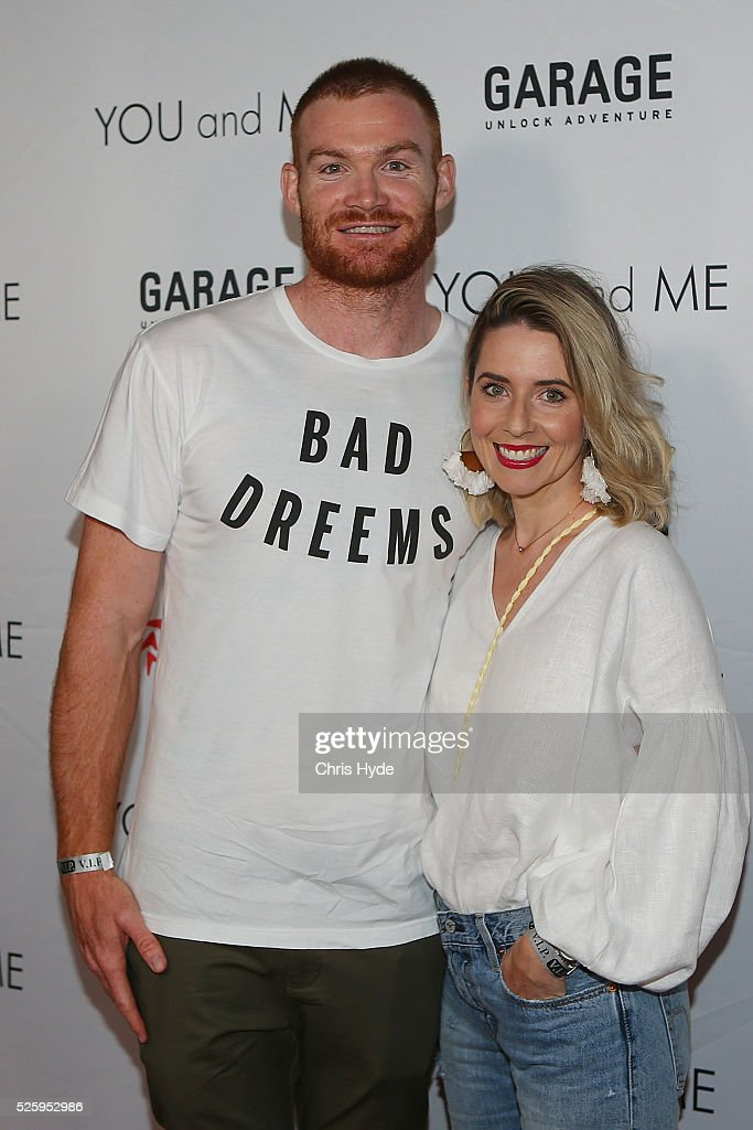 Daniel and Sarah Merrett arrive ahead of Gold Coast premiere of 'YOU and ME' at Event Cinemas Pacific Fair on April 29, 2016 in Gold Coast, Australia.