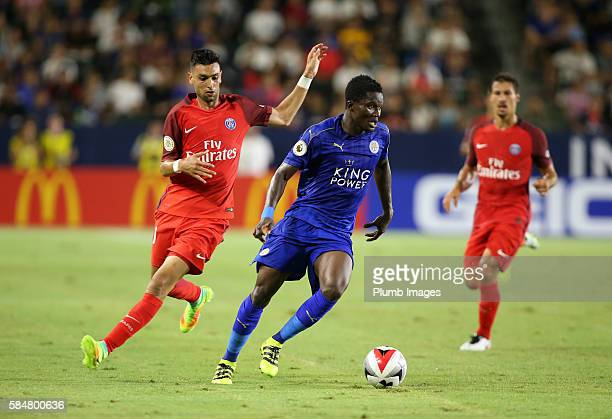 Daniel Armatey of Leicester City in action during the ICC Cup match between Paris SaintGermain and Leicester City at StubHub Center on July 30 2016...