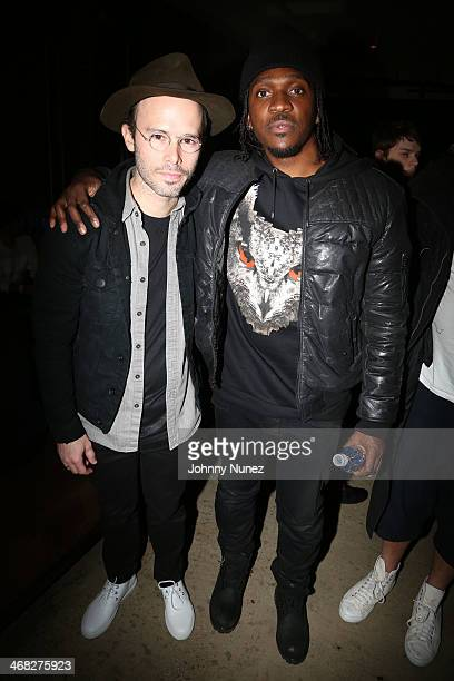 Daniel Arsham and Pusha T attend the Daniel Arsham x Chris Stamp Presentation during MADE Fashion Week Fall 2014 at Milk Studios on February 9 2014...