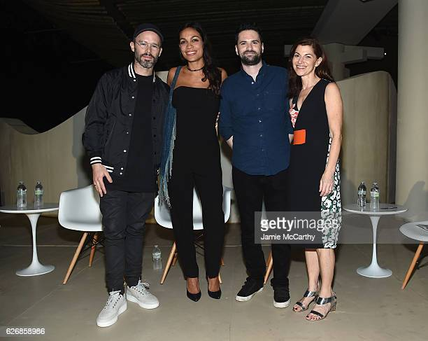 Daniel Arsham Rosario Dawson Dan Trachtenberg and Diane Solway attend the Miami Beach Kickoff Party at Audemars Piguet Art Commission 'Reconstruction...