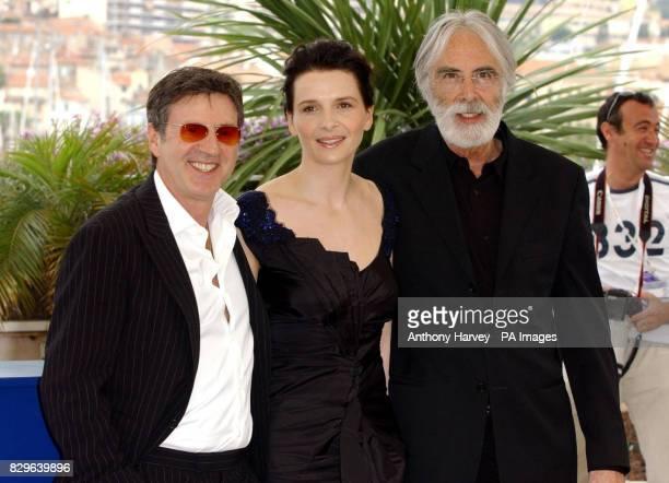 Daniel Auteuil Juliette Binoche and Director Michael Haneke