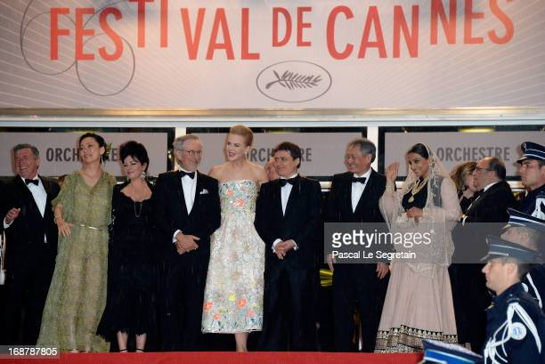 Daniel Auteuil Naomi Kawase Lynne Ramsay Steven Spielberg Nicole Kidman Cristian Mungiu Ang Lee and Vidya Balan attend the Opening Ceremony and 'The...
