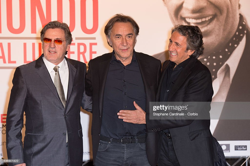 Daniel Auteuil, Richard Berry and Richard Anconina attend the Tribute to Jean Paul Belmondo and Opening Ceremony of the Fifth Lumiere Film Festival, in Lyon.