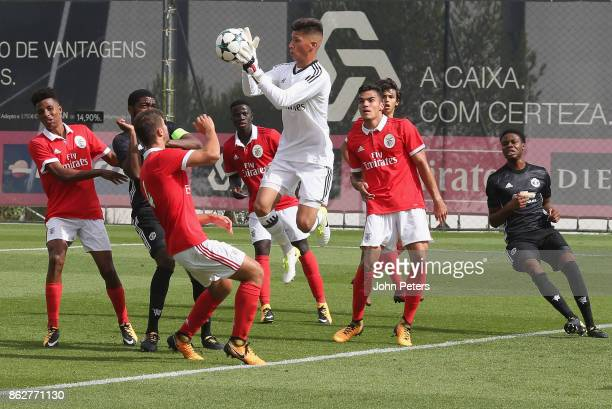 Daniel Azevedo of Benfica U19s in action during the UEFA Youth League match between Benfica U19s and Manchester United U19s at Caixa Futebol Campus...