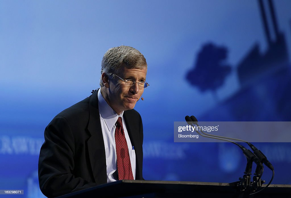 Daniel B. Poneman, U.S. deputy secretary of energy, pauses at the 2013 IHS CERAWeek conference in Houston, Texas, U.S., on Thursday, March 7, 2013. IHS CERAWeek is a gathering of senior energy decision-makers from around the world and provides presentations from senior industry executives, government officials and thought leaders on the changing energy playing field. Photographer: Aaron M. Sprecher/Bloomberg via Getty Images