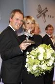 Daniel Bahr and Uschi Glas attend the Felix Burda Award 2013 at Hotel Adlon on April 14 2013 in Berlin Germany