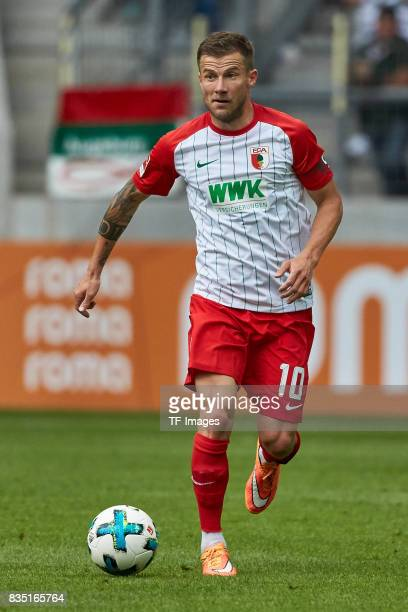 Daniel Baier of Augsburg controls the ball during the preseason friendly match between FC Augsburg and PSV Eindhoven on August 6 2017 in Augsburg...