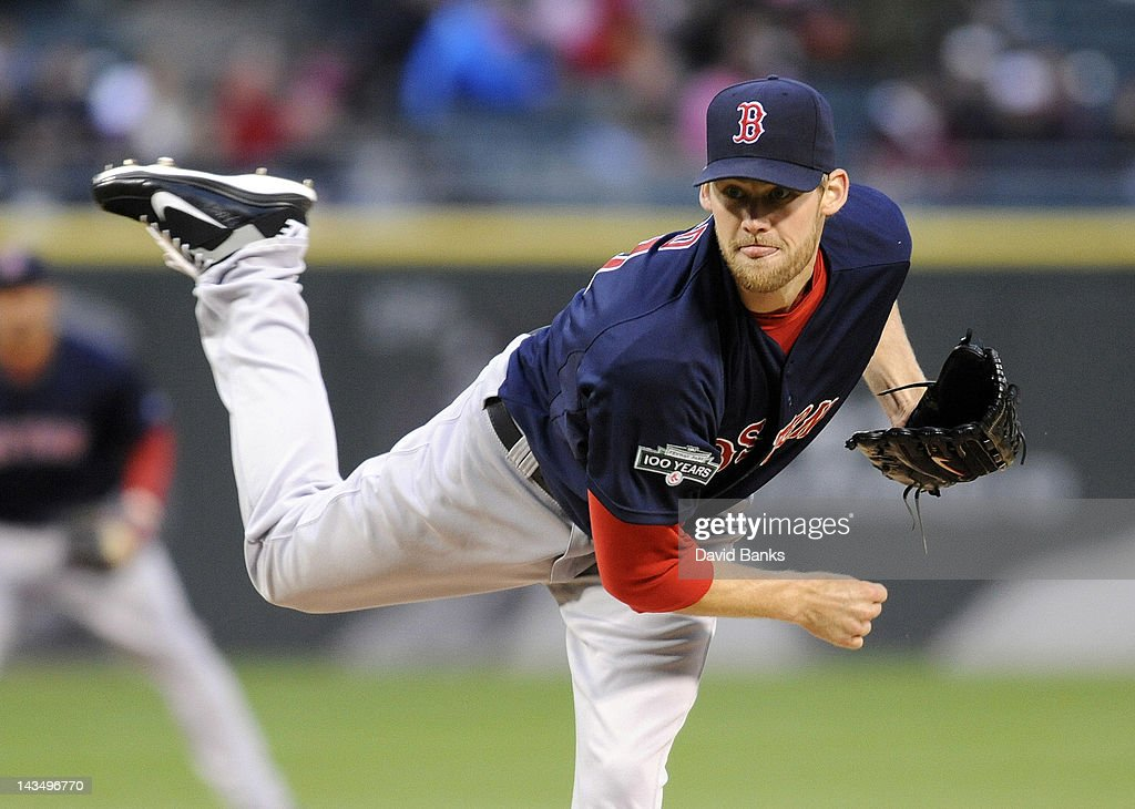 <a gi-track='captionPersonalityLinkClicked' href=/galleries/search?phrase=Daniel+Bard&family=editorial&specificpeople=550283 ng-click='$event.stopPropagation()'>Daniel Bard</a> #51 of the Boston Red Sox pitches against the Chicago White Sox in the first inning on April 27, 2012 at U.S. Cellular Field in Chicago, Illinois.