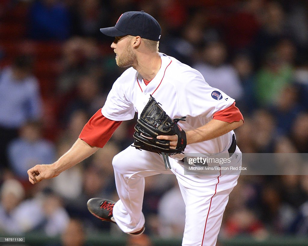 <a gi-track='captionPersonalityLinkClicked' href=/galleries/search?phrase=Daniel+Bard&family=editorial&specificpeople=550283 ng-click='$event.stopPropagation()'>Daniel Bard</a> #51 of the Boston Red Sox pitches against the Houston Astros in the ninth inning on April 25, 2013 at Fenway Park in Boston, Massachusetts.