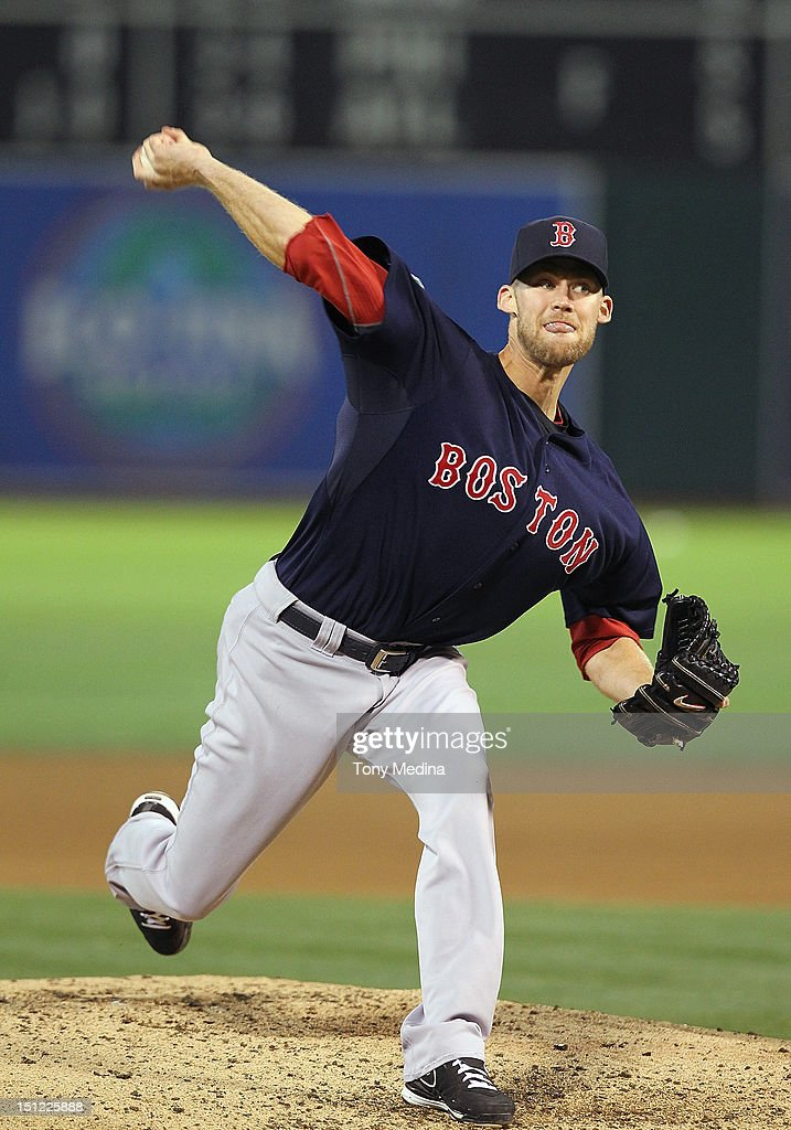 <a gi-track='captionPersonalityLinkClicked' href=/galleries/search?phrase=Daniel+Bard&family=editorial&specificpeople=550283 ng-click='$event.stopPropagation()'>Daniel Bard</a> #51 of the Boston Red Sox pitches during a game against the Oakland Athletics at O.co Coliseum on August 31, 2012 in Oakland, California.