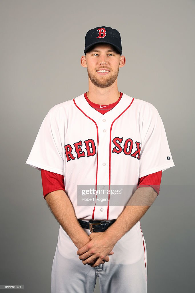 <a gi-track='captionPersonalityLinkClicked' href=/galleries/search?phrase=Daniel+Bard&family=editorial&specificpeople=550283 ng-click='$event.stopPropagation()'>Daniel Bard</a> #51 of the Boston Red Sox poses during Photo Day on February 17, 2013 at JetBlue Park in Fort Myers, Florida.