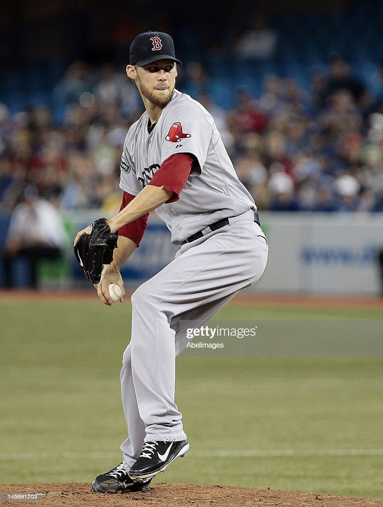 <a gi-track='captionPersonalityLinkClicked' href=/galleries/search?phrase=Daniel+Bard&family=editorial&specificpeople=550283 ng-click='$event.stopPropagation()'>Daniel Bard</a> #51 of the Boston Red Sox throw a pitch against the Toronto Blue Jays during MLB action at The Rogers Centre June 3, 2012 in Toronto, Ontario, Canada.