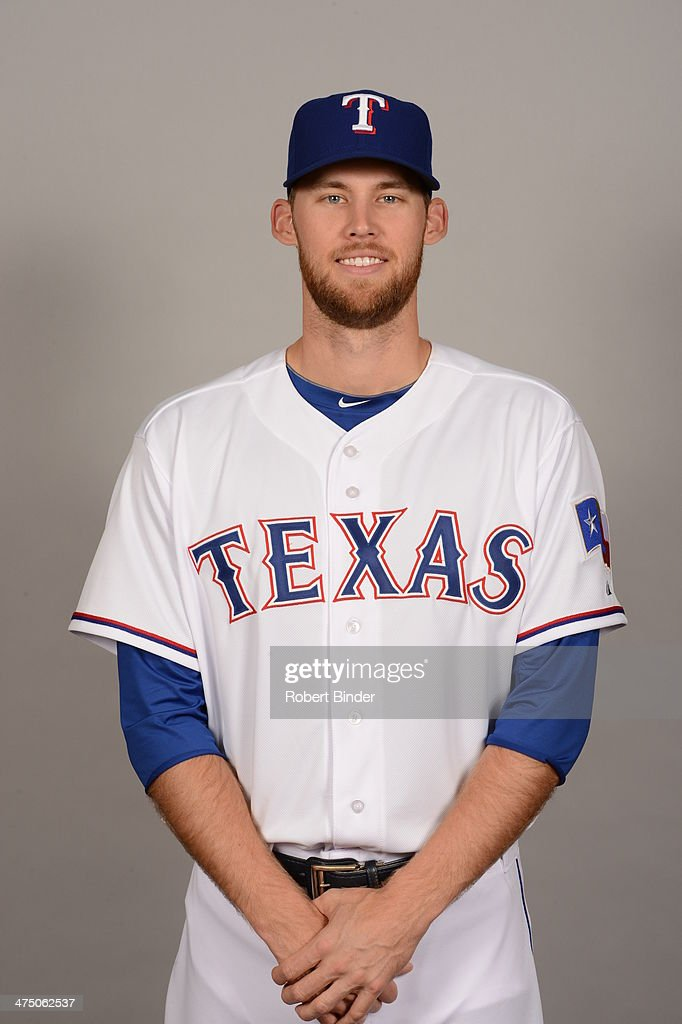 <a gi-track='captionPersonalityLinkClicked' href=/galleries/search?phrase=Daniel+Bard&family=editorial&specificpeople=550283 ng-click='$event.stopPropagation()'>Daniel Bard</a> #16 of the Texas Rangers poses during Photo Day on Tuesday, February 25, 2014 at Surprise Stadium in Surprise, Arizona.
