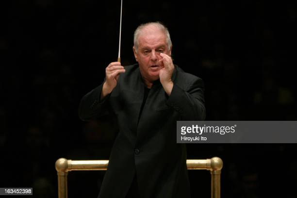 Daniel Barenboim conducts the Vienna Philharmonic Orchestra in Bartok's 'Four Pieces for Orchestra' at Carnegie Hall on Saturday night March 3 2007