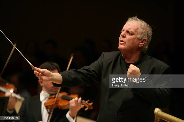 Daniel Barenboim conducts the Vienna Philharmonic Orchestra in Bruckner's 'Symphony No 7 in E Major' at Carnegie Hall on Friday night March 2 2007