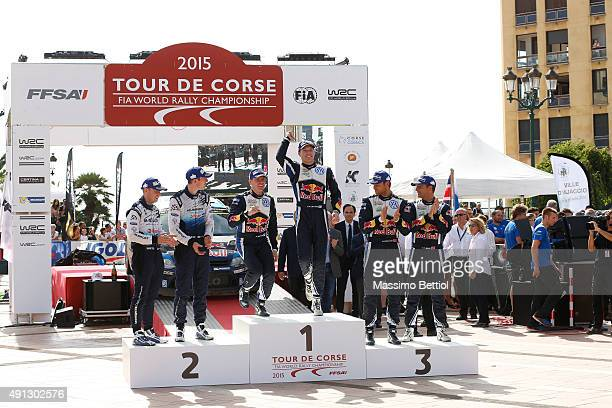 Daniel Barritt of Great Britain and Elfyn Evans of Great Britain Mikka Anttila of Finland and Jari Matti Latvala of Finland Andreas Mikkelsen of...